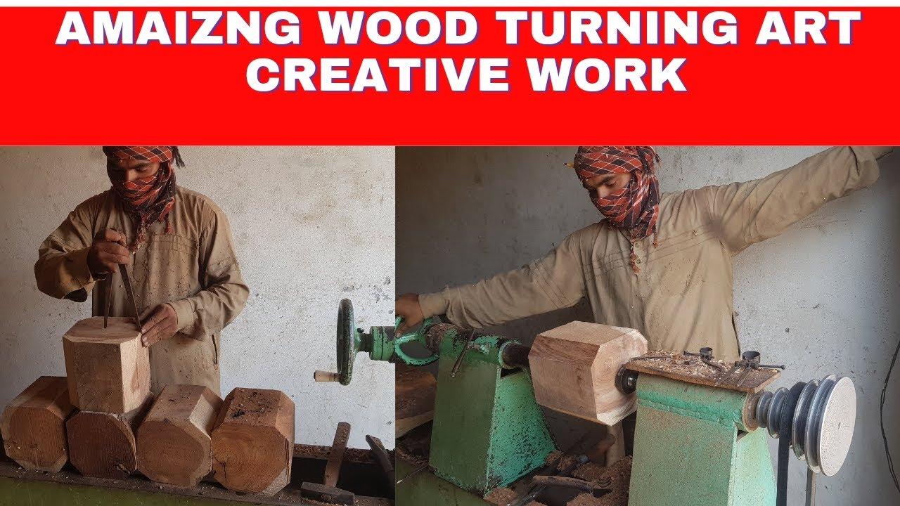 Amazing wood turning art wood working wooden art wood desiging