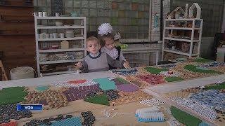 Уфимские волонтёры создали тактильную стену для детей с нарушениями зрения