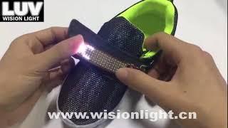 LUV-MS-521 mini size LED message talk display shoes light