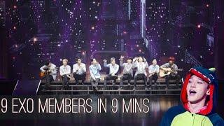 9 EXO MEMBERS IN 9 MINUTES