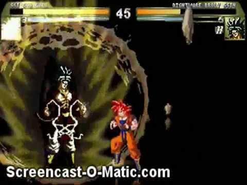 Goku SSJ God Nightm Broly SSJ4 M.U.G.E.N.