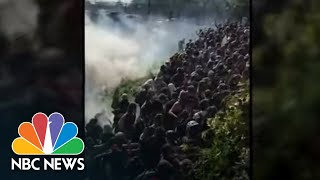 Protesters Forced Up Highway Embankment By Tear Gas In Philadelphia | NBC News
