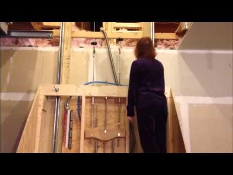 Garage storage lift youtube for Garage attic lift elevator