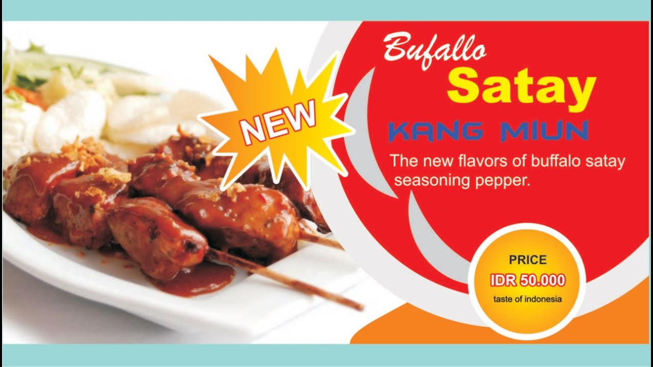 banner design coreldraw buffalo satay food  youtube