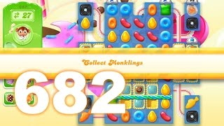 Candy Crush Jelly Saga Level 682 (3 star, No boosters)