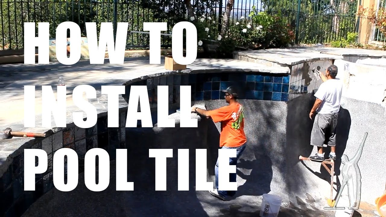 How to install pool tile ultimate pool guy hd youtube for Uses for old swimming pools