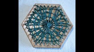 Hexagon Weaving 4 iฑch loom teneriffe basic technique