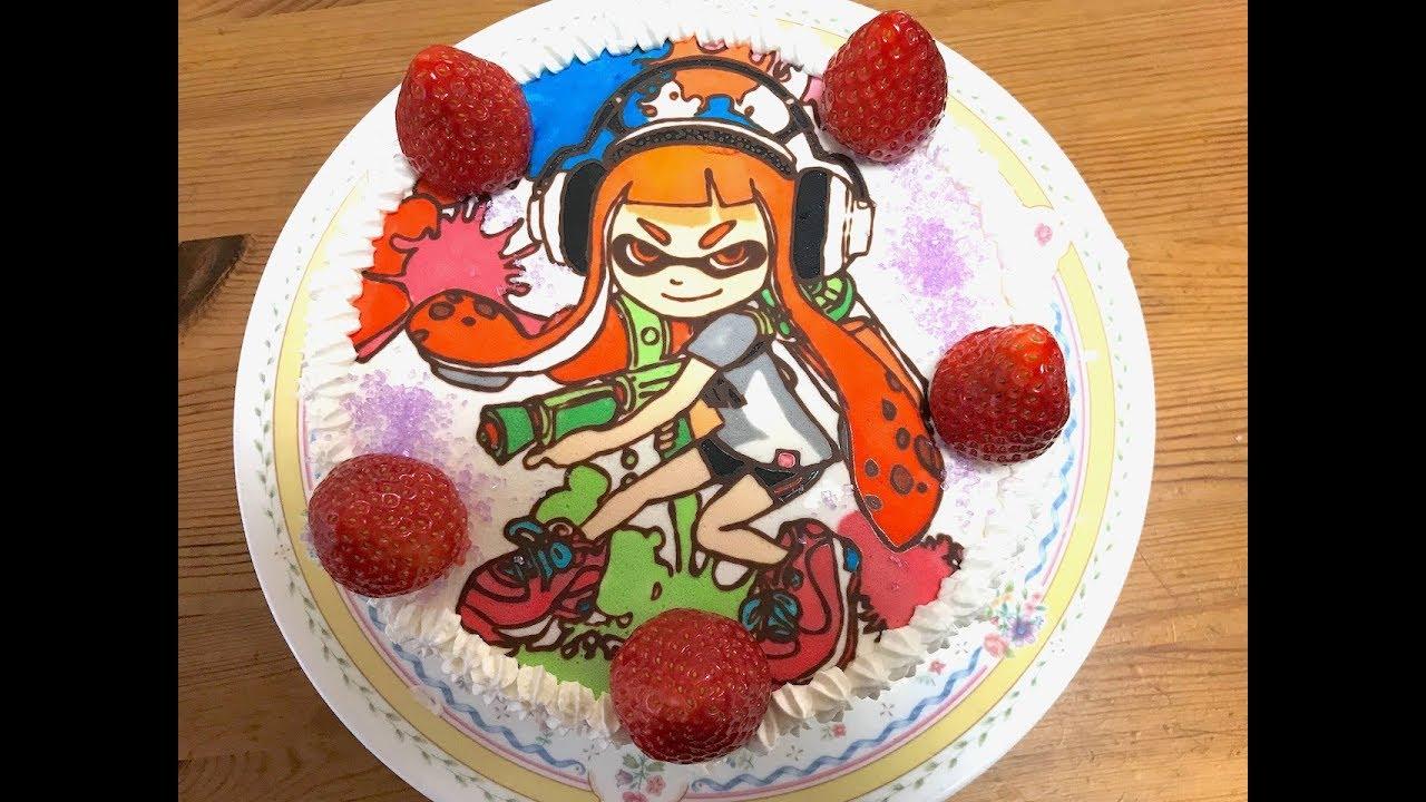 キャラケーキの作り方 スプラトゥーン イカちゃん リクエストケーキ