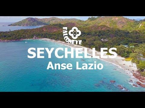 Seychelles Praslin Anse Lazio 4K drone