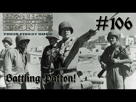 Hearts of Iron 3: Black ICE 8.6 - 106 (Germany) Battling Patton & the Americans!