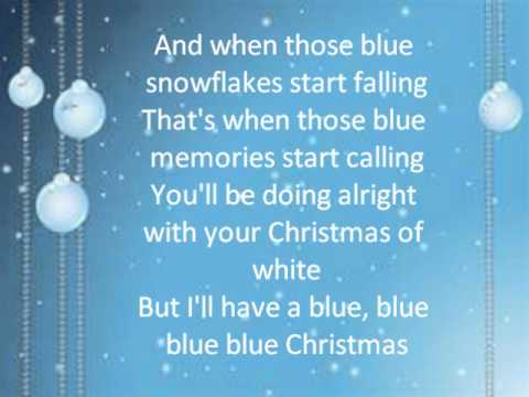 blue christmas lyrics glee cast - I Ll Have A Blue Christmas Lyrics