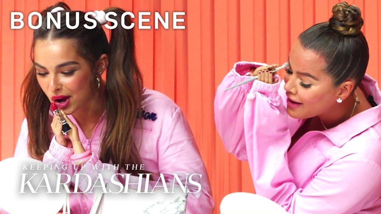 Khloé Kardashian & Addison Rae's Hilarious Makeup Challenge | KUWTK Bonus Scene | E!
