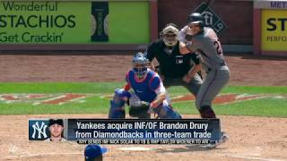 New York Yankees acquire INF/OF Brandon Drury