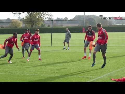 Arsenal: 5v3 training session