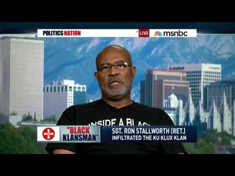 Ron Stallworth with Al Sharpton on MSNBC