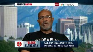 Ron Stallworth with Al Sharpton on MSNBC