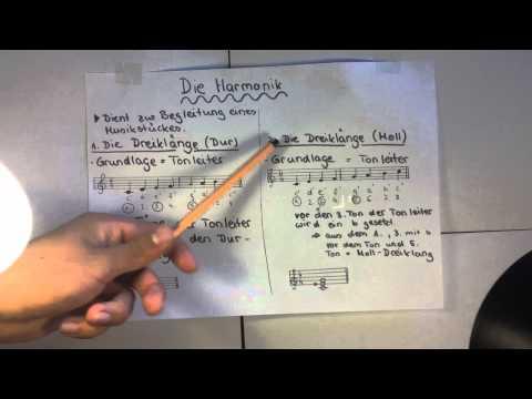 Grundlagen der Harmonik - Begleitung von Musikstücken