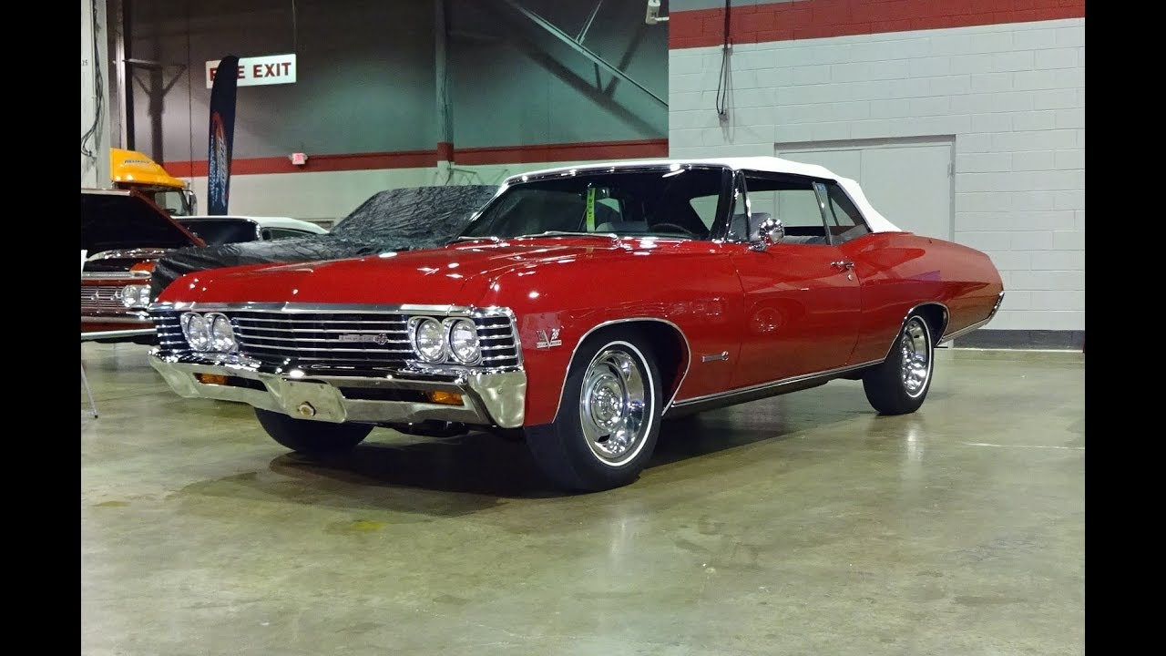 1967 Chevrolet Impala SS Convertible in Red Paint & 427 Engine Sound My Car  Story with Lou Costabile