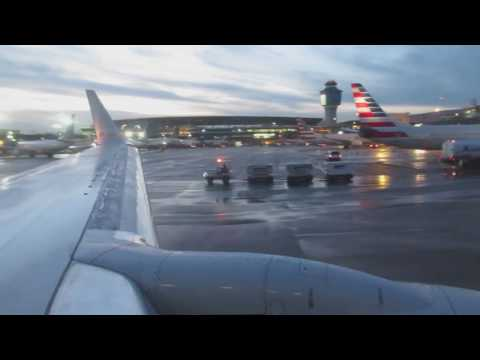 American Airlines Boeing 737-800 takeoff from LaGuardia Airport to Dallas