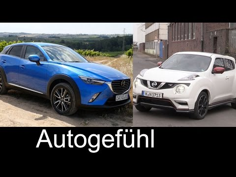 Best small SUV comparison test review Mazda CX-3 vs Nissan Juke - Autogefühl