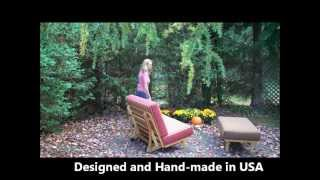 Outdoor Loveseat and Ottoman make an Outdoor Full Bed