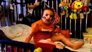 Living with Trisomy 18: Lane @ 3 1/2 years old can now sit up in bed by himself!