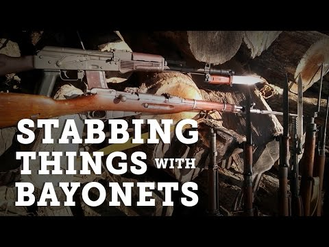 Bayonet Training: Stabbing things with Bayonets . Which one is the best?