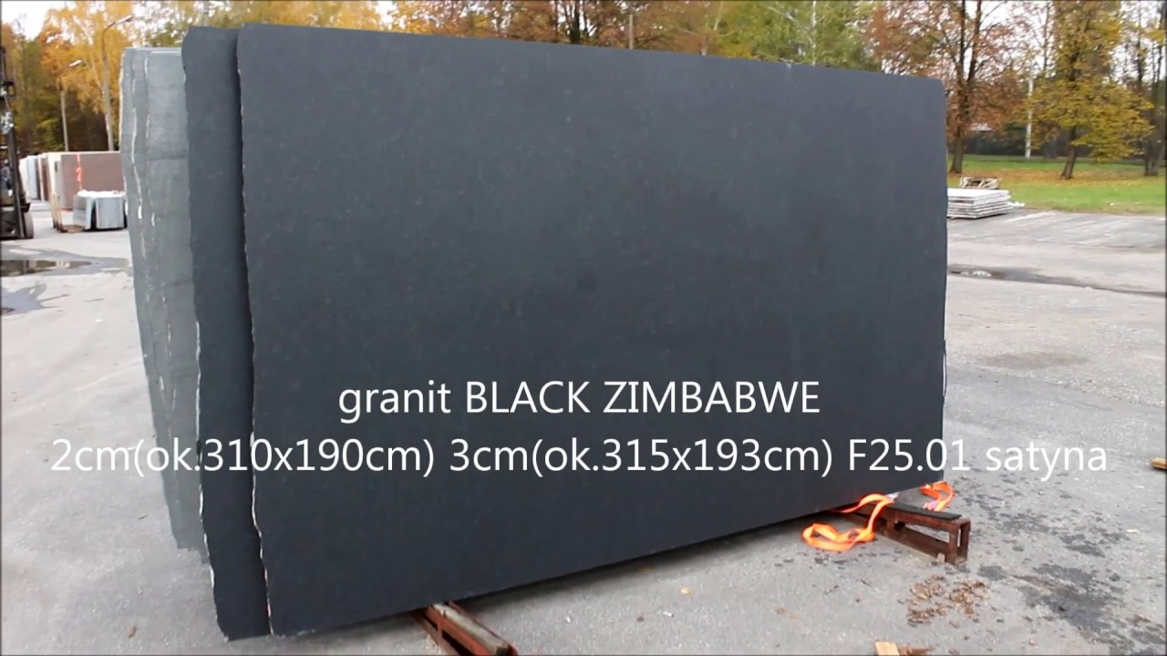 granit BLACK ZIMBABWE F25.01 satyna - YouTube