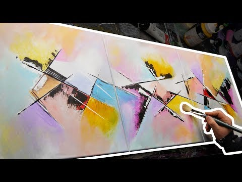 Creation of an abstract acrylic painting with a knife | Keen