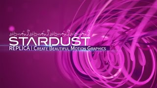 STARDUST ich Ae Tutorial erstelle ich Schöne Motion Graphics