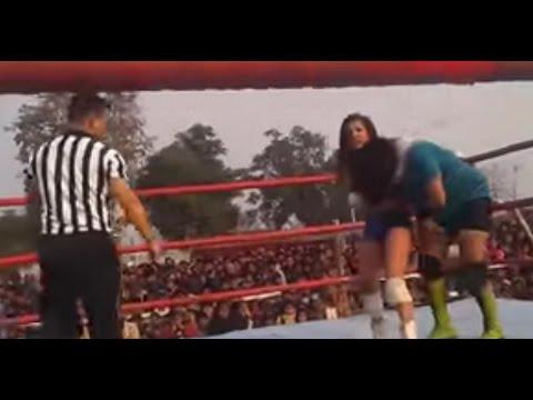 Ladies Wrestling Unika vs Jureli | Female Wrestling | WWF Nepal