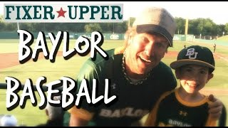 fixer upper baseball with chip and joanna gaines