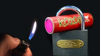 EXPERIMENT FIRECRACKER VS PADLOCK thumbnail