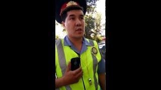 Сотрудники Полиции Шымкента нарушают условия безопасности дорожного движения