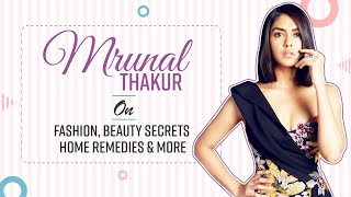 Mrunal Thakur on closing Lakme Fashion Week, Beauty & Makeup Secrets, Home Remedies & more
