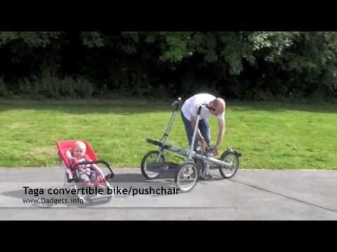Taga convertible bike/pushchair review for www.Dadgets.info - YouTube