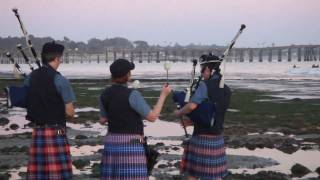 AMAZING 100 YEAR OLD PEGGY! Scottish Bagpipe Memorial~Part 4~Ventura California Surfers Point