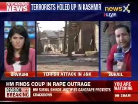 Two terrorists holed up a house near Srinagar