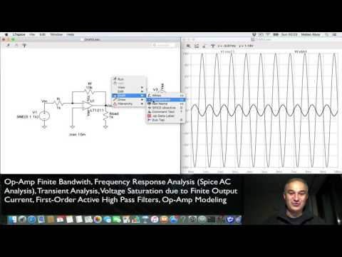 LTSpice Mac OS X Tutorial: AC Analysis, Finite Bandwith , Gain