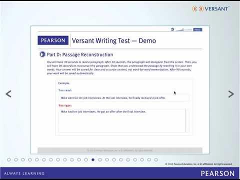 Versant Writing Test