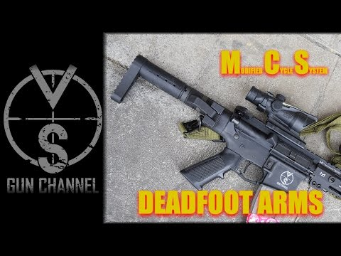 Folding Stock That Actually Works, Deadfoot Arms MCS - YouTube