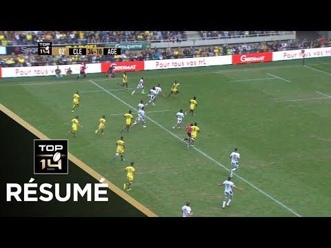 TOP 14 –  Résumé Clermont-Agen : 67-23 – J1 – Saison 2018/2019