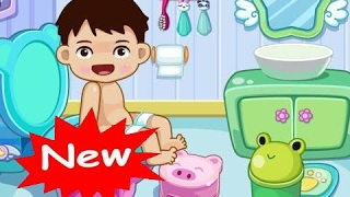 Baby Bathroom Toilet Training, Washing-up, Brushing, Bathing Game For Kids & Babies By 2Baby - Kids