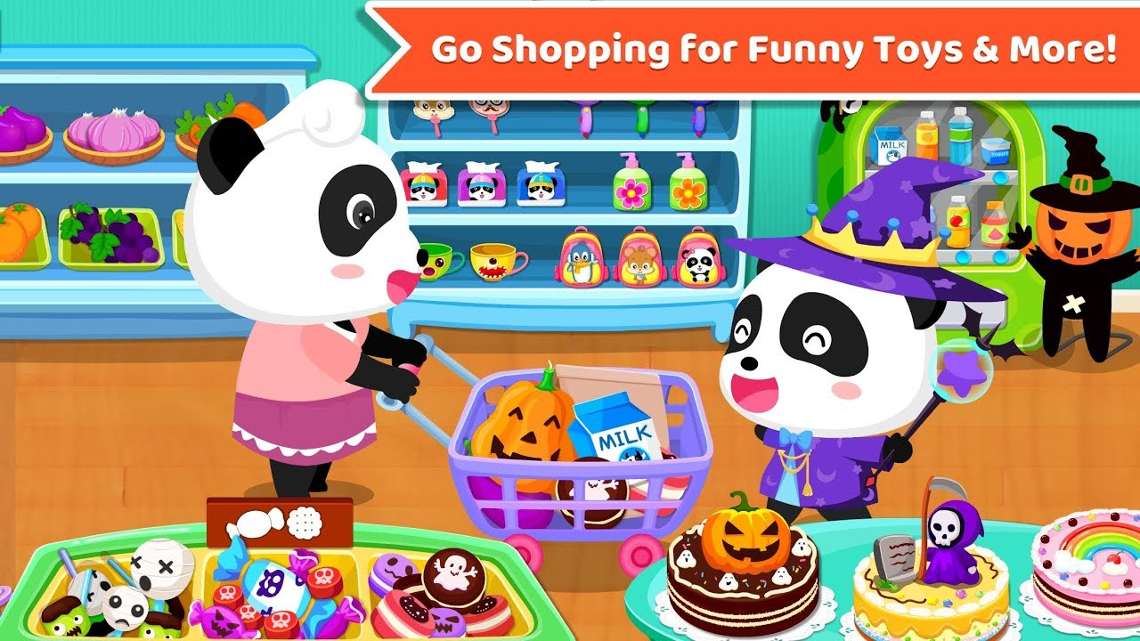Baby Panda's Supermarket | Kids Grocery Shopping | BabyBus Game