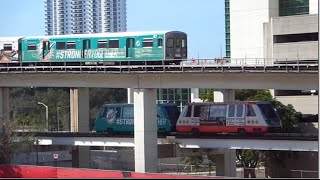 Miami Metrorail & Metromover ride All Aboard Florida update.