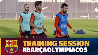 Last training session before the match against Olympiacos