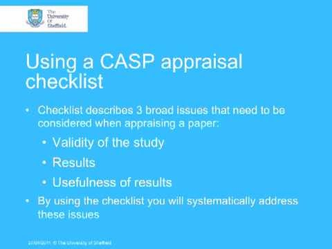 Critical Appraisal With CASP Part 2 YouTube