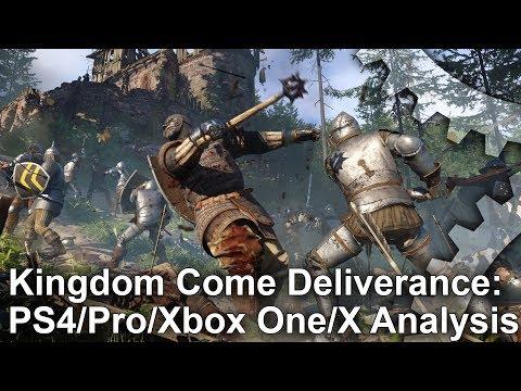 Kingdom Come Deliverance: PS4/Pro vs Xbox One/X Graphics Comparison + Frame-Rate Test