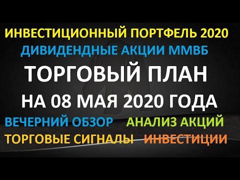 ТОРГОВЫЙ ПЛАН на 08 мая 2020 года - инвестиции Акции ММВБ  Какие купить акции в мае Торговые сигналы