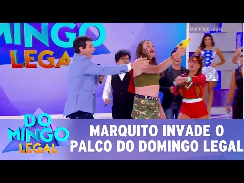 Domingo Legal (19/03/17) - Marquito invade o palco do Domingo Legal